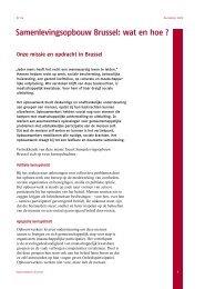 Samenlevingsopbouw Brussel: wat en hoe ?