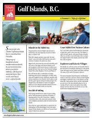 Gulf Islands, BC, trip brochure here - Maple Leaf Adventures