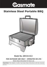 Gasmate Portable BBQ Operating and Assembling.pdf - Home Outlet