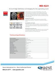 Technical specifications - Quest International