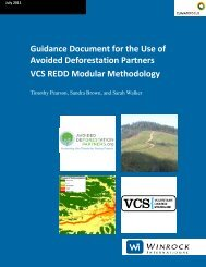 Guidance Document for the Use of Avoided Deforestation Partners ...