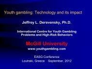 Youth gambling - Website