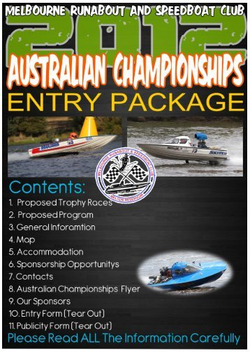 Melbourne Runabout Speed Boat Club Inc. Australian ...