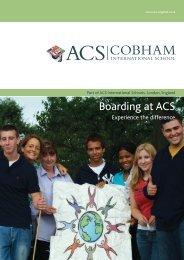 Boarding at ACS - ACS International Schools