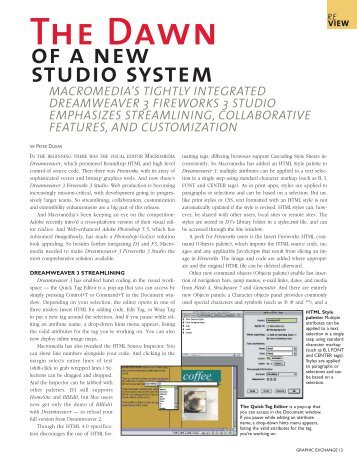 The Dawn of a New Studio System - Graphic Exchange magazine