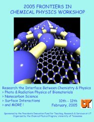2005 Frontiers in Chemical Physics Workshop University of ...
