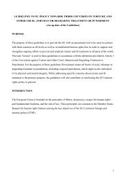 GUIDELINES TO EU POLICY TOWARDS THIRD COUNTRIES ON ...
