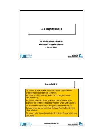 PM_SS05_LE04.pdf - Lehrstuhl für Wirtschaftsinformatik - TUM