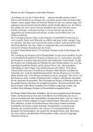 Stationäre Hospize - Evangelische Akademie Tutzing