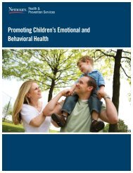 Promoting Children's Emotional and Behavioral Health - Nemours
