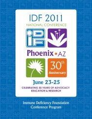 Immune Deficiency Foundation Conference Program