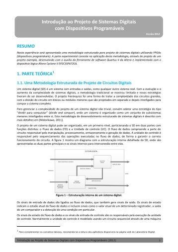 Introdução ao Projeto de Sistemas Digitais com ... - PCS - USP