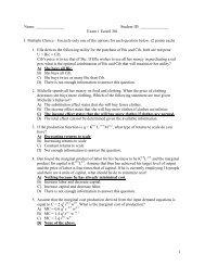 Exam 1 EconS 301