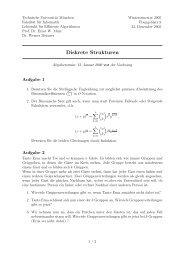 Übungsblatt 9 - Lehrstuhl für Effiziente Algorithmen