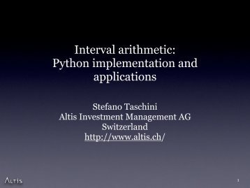 Interval arithmetic - SciPy Conferences