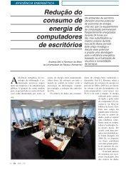 Redução do consumo de energia de computadores de escritórios