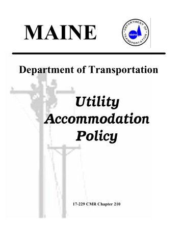 2009 Utility Accommodation Policy and Standards Manual