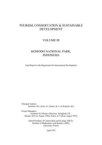 Vol III Komodo National Park, Indonesia - Harold Goodwin