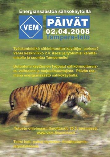 esite/ohjelma. - VEM motors Finland Oy