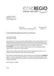 eneREGIO GmbH Rastatter Str. 14 - 16 76461 Muggensturm Frau ...