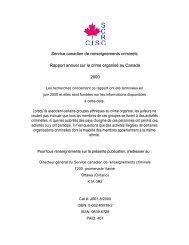 Rapport annuel 2000 - Service canadien de renseignements criminels