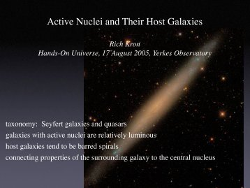 Active Nuclei and Their Host Galaxies