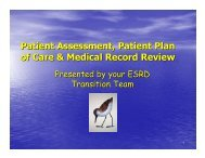 Patient Assessment, Patient Plan of Care, and Medical ... - Network 6