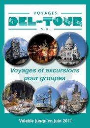 Voyages et excursions pour groupes - Del-Tour