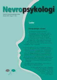 Nevropsykologi 1-2005 - Norsk Nevropsykologisk Forening