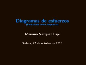 Diagramas de esfuerzos - Universidad Politécnica de Madrid