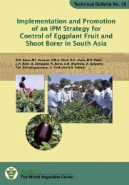 Implementation and promotion of an IPM strategy for control of ...
