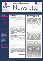 Download newsletter numero 3 (Agosto 2011) - Galaxies