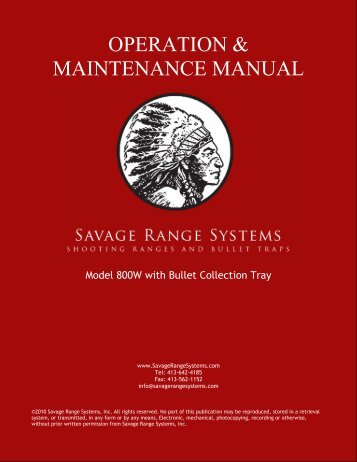 Model 800W with Bullet Collection Tray - Savage Range Systems