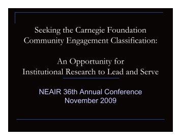 NEAIR 2009 Villanova University Presentation