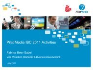 Pilat Media IBC 2011 Activities - Key4biz