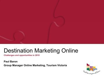 Destination Marketing Online: challenges and ... - Tourism Futures