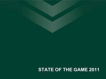 STATE OF THE GAME 2011 - SportingPulse