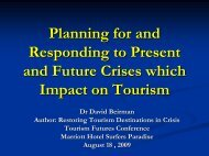 Planning for and Responding to Crises - Tourism Futures