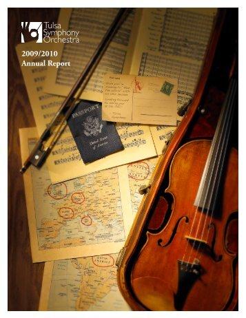 2009/2010 Annual Report - Tulsa Symphony Orchestra