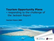 Supply Side of Destination Management - Tourism Futures