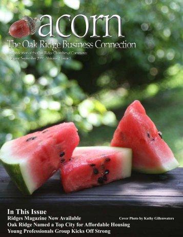 acorn August September 2009 - Oak Ridge Chamber of Commerce