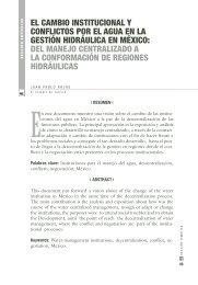 El CAmBIo INSTITuCIoNAl y CoNflICToS por El AguA EN lA ...