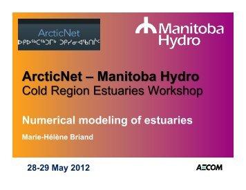 Numerical modeling of estuaries - Arcticnetmeetings.ca