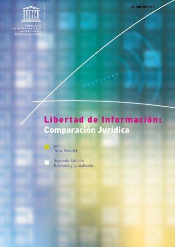 Libertad de información: comparación jurídica ... - unesdoc - Unesco