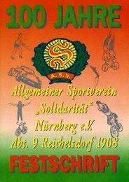 Festschrift 100 Jahre Abt. 9 - ASV Solidarität Nürnberg 1904 eV