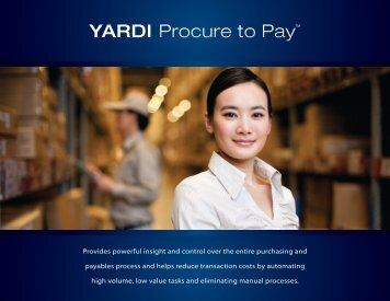YARDI Procure to Pay™ - Yardi Systems UK