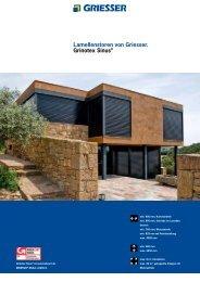 Lamellenstoren von Griesser. Grinotex Sinus® - V. Proietto GmbH