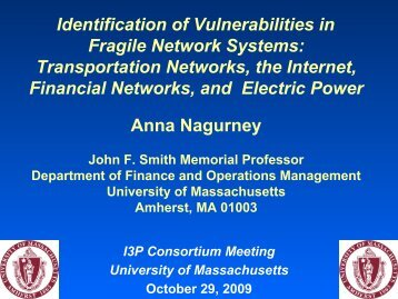 Identification of Vulnerabilities in Fragile Network Systems