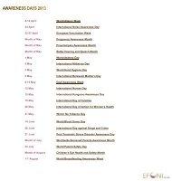 Awareness Days in 2013 - EFCNI