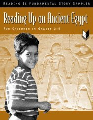 Ancient Egypt Story Sampler - Reading Is Fundamental